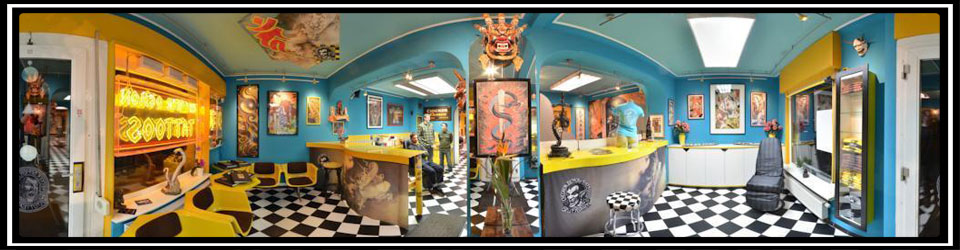 360 grad Bild vom Checker Demon Tattoos Studio