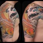 Tattoo Luke Atkinson Koi Carp arm