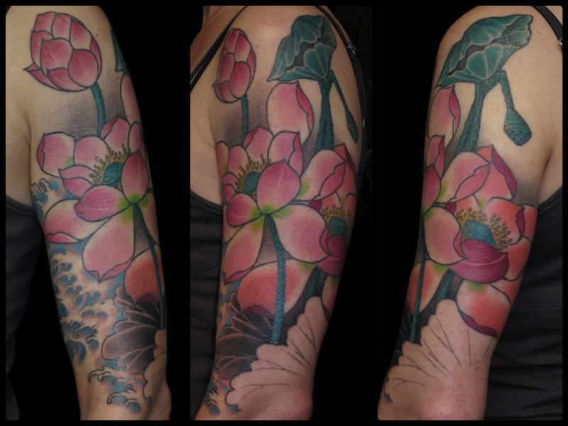 Lotus flower arm › C